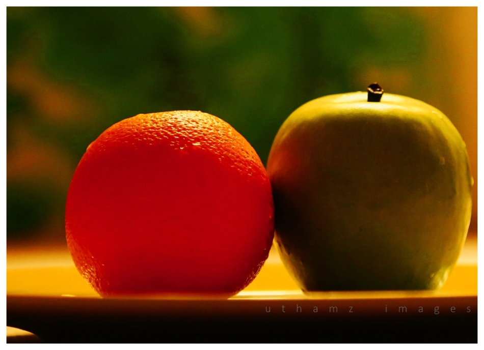 An Orange and an Apple